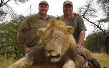 palmer with dead lion
