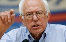 Democratic presidential candidate, Sen. Bernie Sanders, I-Vt., speaks during a town hall meeting at Nashua Community College in Nashua, N.H., Saturday, June 27, 2015. (AP Photo/Michael Dwyer)