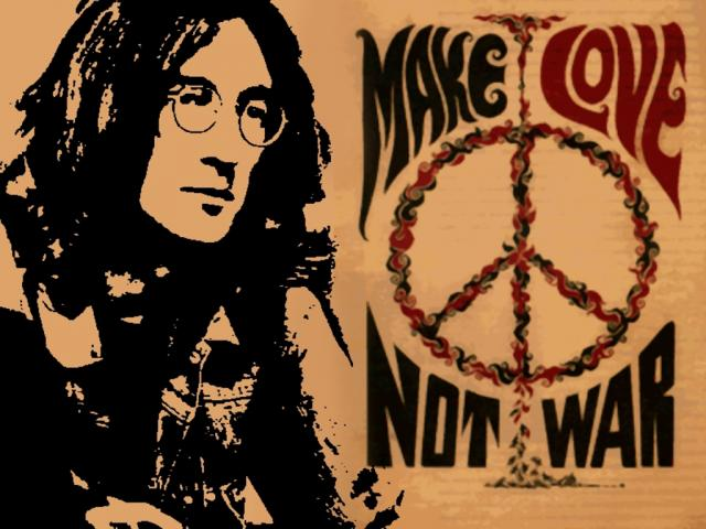 lennon peace sign
