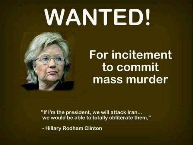 hillary war crimes